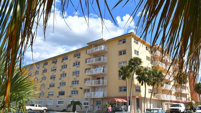 Titusville's Blue Beach Club Apartments, formerly known as Bay Towers, suffered damage from Hurricane Irma.
