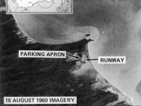 The first image captured by the Corona spy satellite