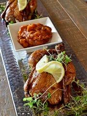 Roast turkey with Black Mission fig Balsamic glaze and Sweet Potato Chutney.