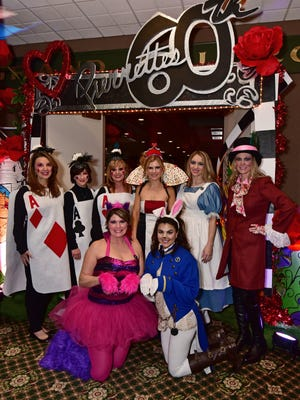 Wendy McCullar, Michelle Griffin, Nikki Ferry, HEather Reese, Lisa Mitchell, Stacy Lurate, Gaye Overholtz and JeriLynn MacBeth, at the Pierettes Ball.