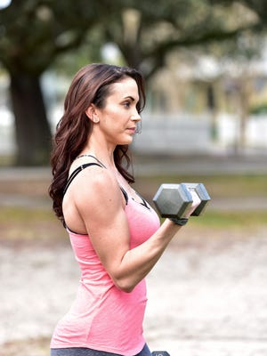 Karen Henning gravitated toward weight training in high school and now competes in fitness competitions.