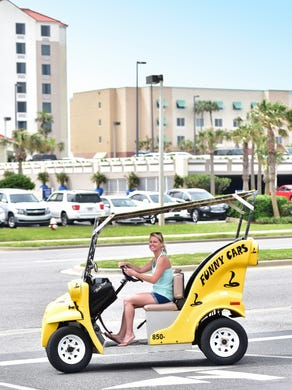 Funny Car Around The Beach Courtesy Of Fun