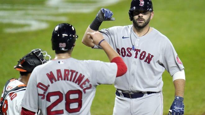 Mitch Moreland bashed the clinching three-run homer on Thursday.