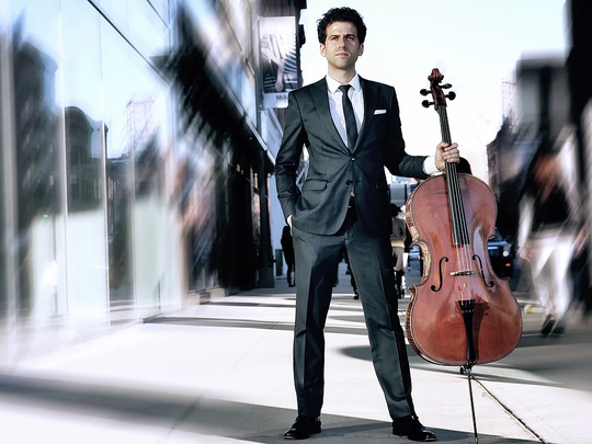 Nicholas Canellakis on cello will be among the featured artists in the Masterworks Series.