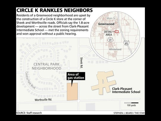 Map of the disputed Circle K