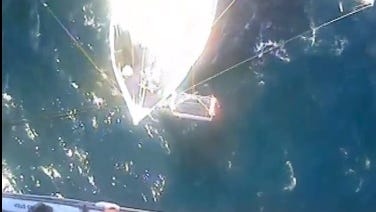 Coast Guard rescues man with helicopter