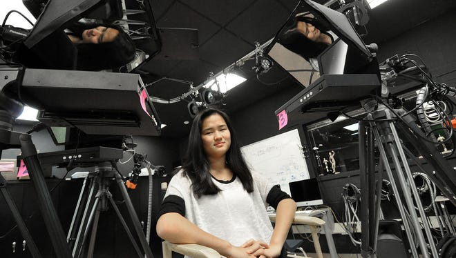 Cresskill high school junior Michelle Yu was named the 2017 National Young Arts Foundation Merit Winner in Cinematic Arts. Michelle's documentary is called China's Forgotten Children. The documentary is about children adoption in China. Michelle Yu photo was taken in Cresskill, NJ. November 28, 2016.