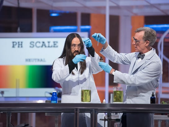Steve Aoki joins Bill Nye for an 'Acid Test' on 'Bill