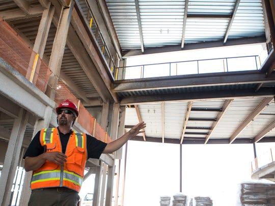 Eric Bender, superintendent of Journey Construction,