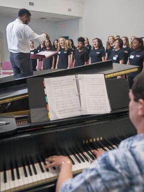 The Pensacola Children's Chorus during a February rehearsal.