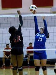Hondo's Fallon Velasquez  helps her team gain the 3-2