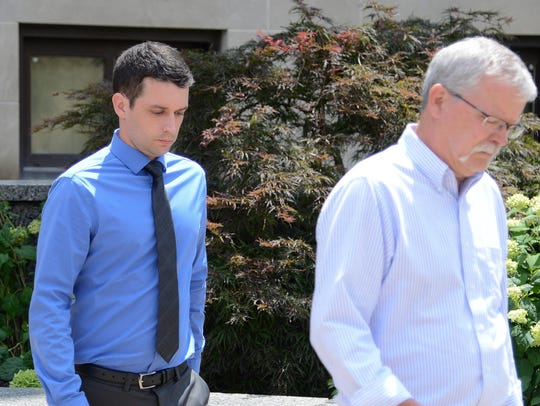 Victor Van Cleave, 30, leaves the federal courthouse