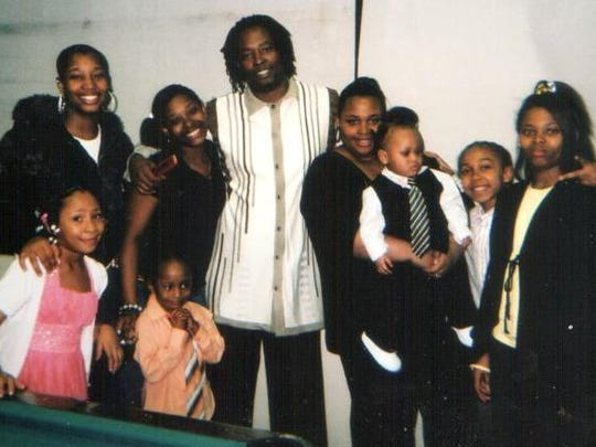 Sam DuBose with his family.