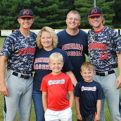 The Love family are big fans of the Waynesboro Generals.