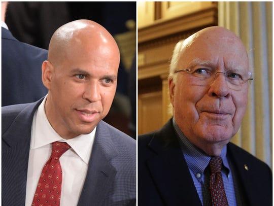 Senators Cory Booker (New Jersey) and Patrick Leahy
