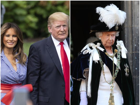 President Trump and first lady Melania Trump will meet with the queen at Windsor Castle during their upcoming visit to the U.K.(Photo: Getty Images)