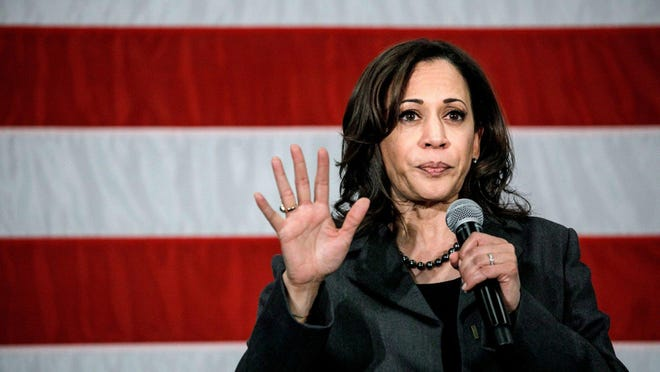 "Facebook posts circulating online said if Democrat Joe Biden can't serve his full term, Kamala Harris ""cannot by constitutional law become president."" PolitiFact rates that claim False."