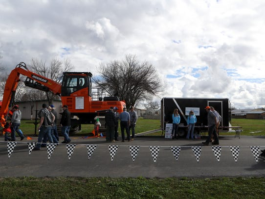 Vendors show off heavy equipment during the 68th Annual
