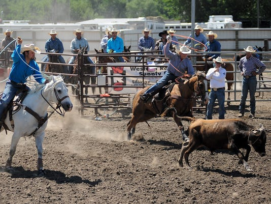 Tew Robertson Team Among Winners At Lewistown Rodeo