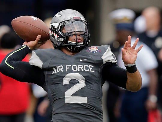 Air Force quarterback Arion Worthman.