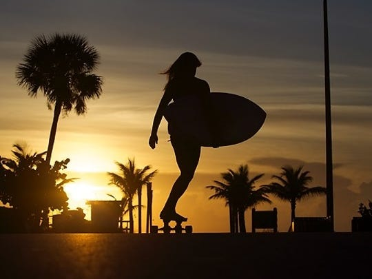 Crystal Cooper, 32, started the women's surf apparel brand Salty Sweet in 2011.