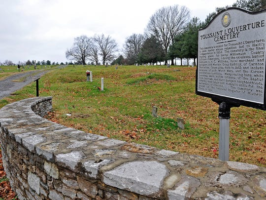 At Toussaint L'Ouverture Cemetery, tucked into a corner lot off Del Rio Pike, rows of headstones represent generations of African-American families who lived in Williamson County.