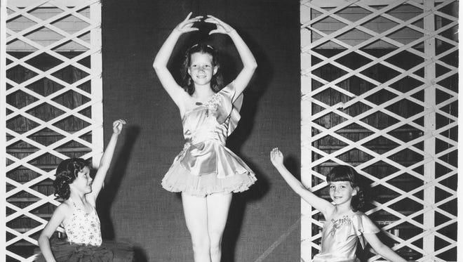 Undated photo of three young dancers