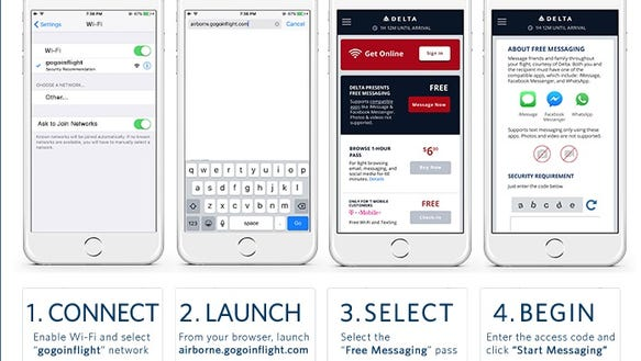 Delta Air Lines says fliers on Wi-Fi enabled flights