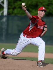 Richmond's John Cheatwood delivers a pitch Monday vs.