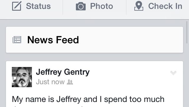 My name is Jeffrey and I spend too much time on my smartphone.
