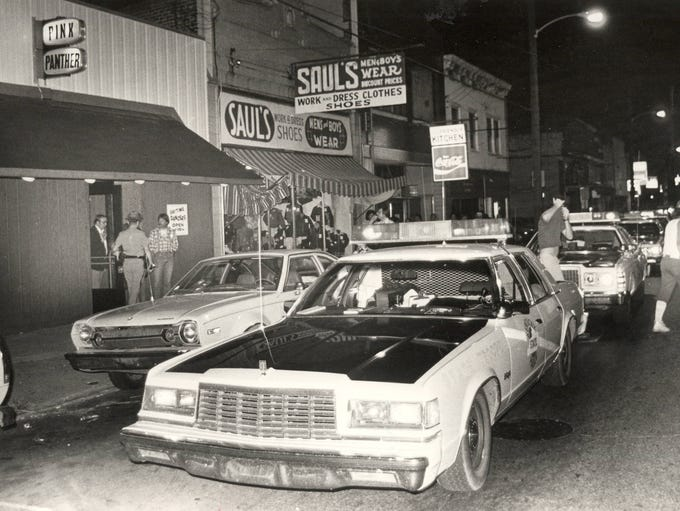 SEPTEMBER 13, 1981: This was the scene in Newport,