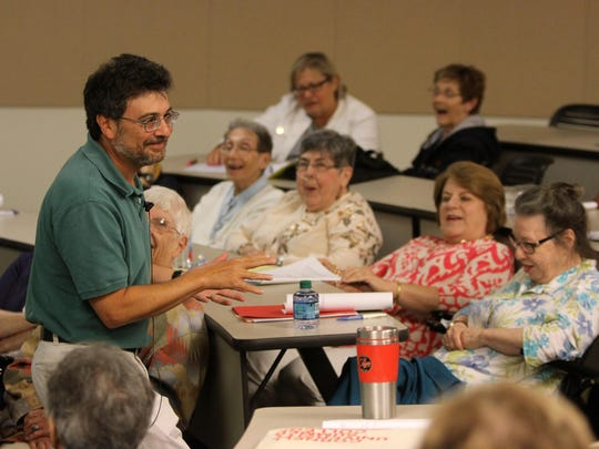 Christopher Bellitto teaches Medieval England during the Summer Scholars program at Brookdale Community College.