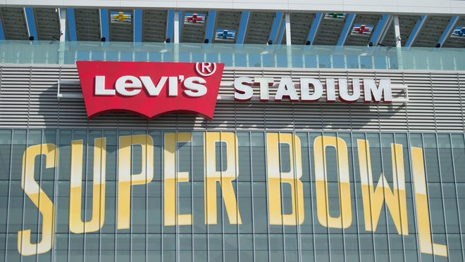 January 26, 2016: General view of the exterior of Levi's Stadium prior to Super Bowl 50.
