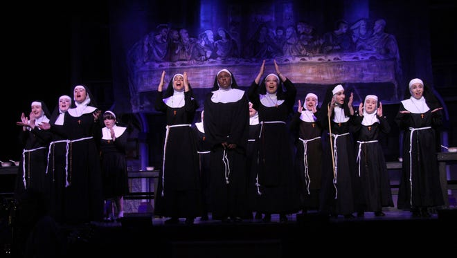 """Archbishop Stepinac's production of """"Sister Act"""" is nominated for 14 Metro Awards, including for featured ensemble group for the girls playing the nuns."""