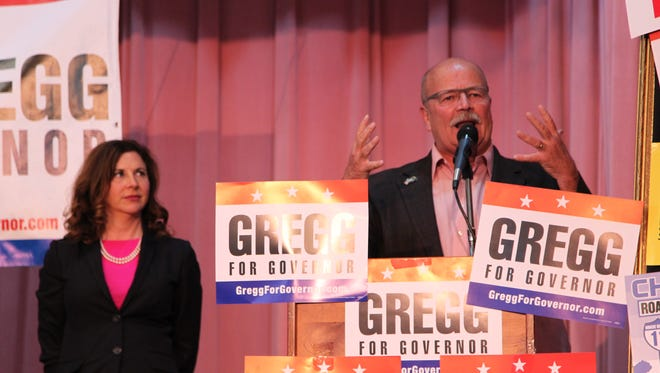 John Gregg, democratic candidate for governor, urged voters to continue to push efforts forward in the next three days left in the election season.