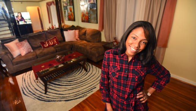Sonia Santana, 26, at her home in Teaneck. More millennials are buying homes without  help from their parents.