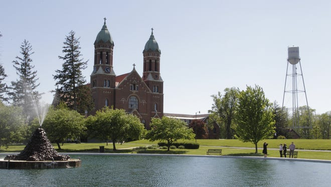 St. Joseph's College campus on May 6, 2017, the day of the final commencement ceremony that marks the start of the suspension of the 126-year-old private college in Rensselaer.