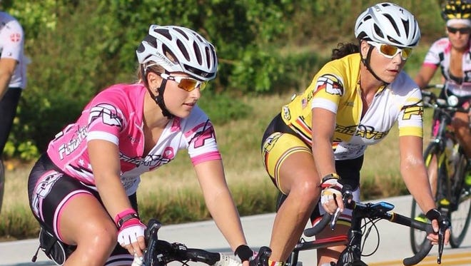Tish Kelly, a competitive cyclist in Naples, sought change after a driver struck her husband, Chuck Kelly, last year while on a group ride in Naples. The driver received a $170 fine, while Chuck Kelly was left with more than 20 broken bones and still can't walk far without pain. Tish Kelly rides with other family members, including her daughter, Madison Kriek, pictured.