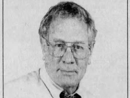 A portrait of longtime News Journal columnist Ron Williams as it appeared in print in 2006. Williams died Sunday from kiidney failure.