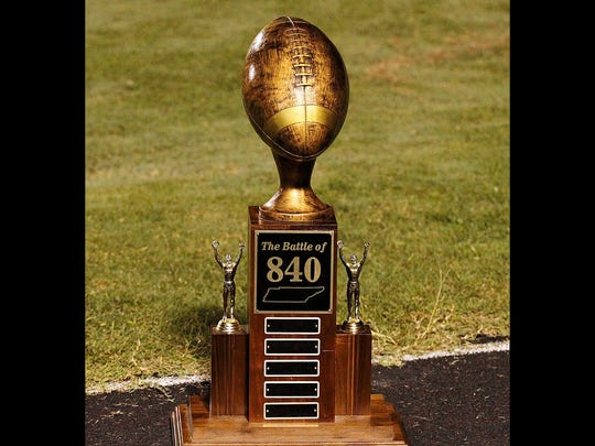 Fairview Jackets hope to keep this bronze trophy at FHS by defeating the Page High Patriots this Friday night in the Battle of 840.