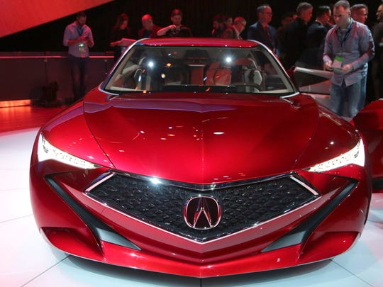 Acura reveals a Precision concept luxury sedan during the 2016 North American International Auto Show held at Cobo Center in downtown Detroit on Tuesday, Jan. 12, 2016. Regina H. Boone /Detroit Free Press