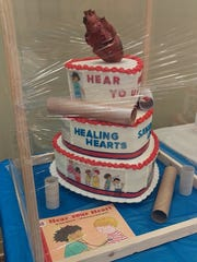 A heart shaped cake from the 2016 BPW Cake Auction. The next auction will be at 2 p.m. Sept. 23 at the Frontier Power Community Room.