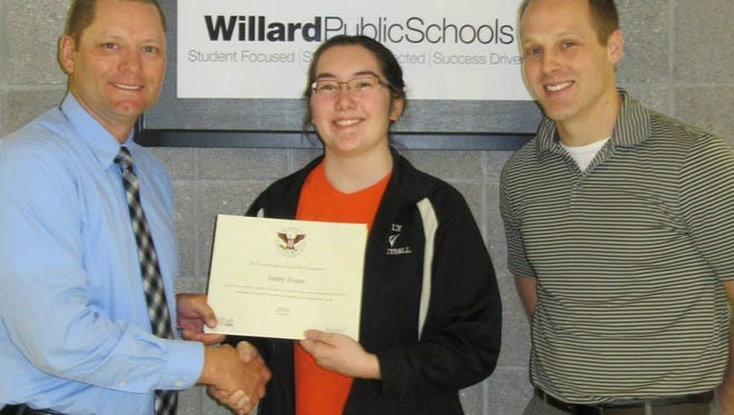 Emily Foster is a recipient of President's Volunteer Service Award.