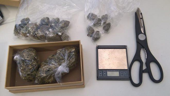 Marijuana seized from Oliver's vehicle.