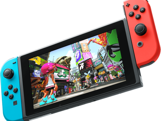 The Nintendo Switch game console