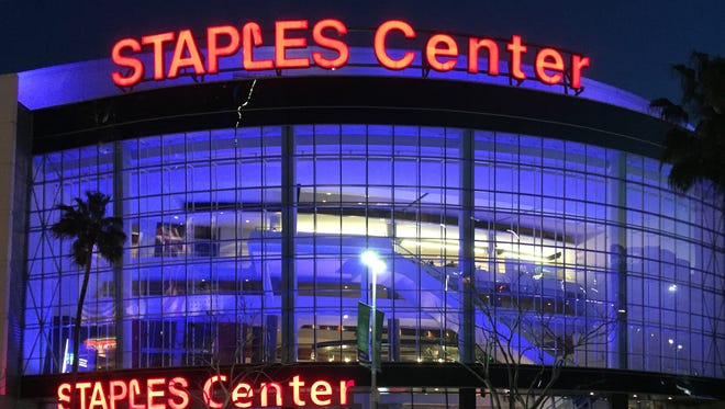 The Staples Center in Los Angeles, Calif.