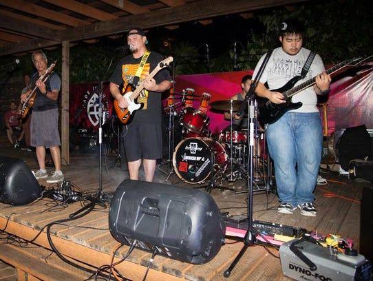Guam band Rock Bottom.