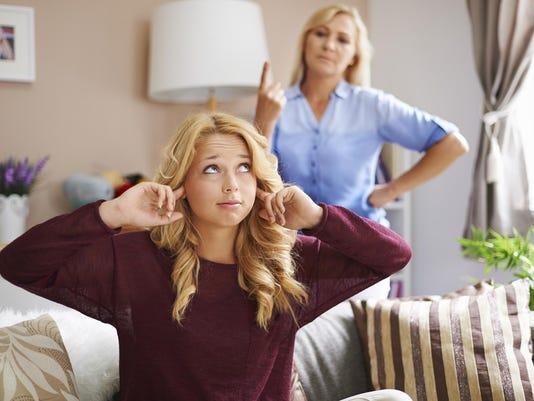 Rebellion of teenage blonde girl