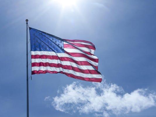 Flag, Back-lit