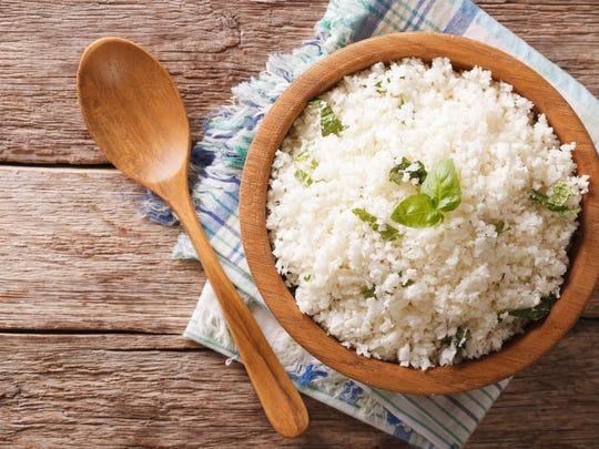 """Cauliflower """"rice."""""""